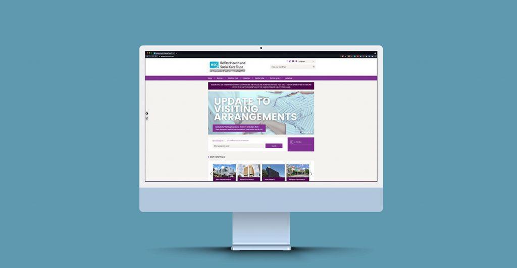 Belfast Health and Social Care Trust   Wibble Web Design & Development   Blog