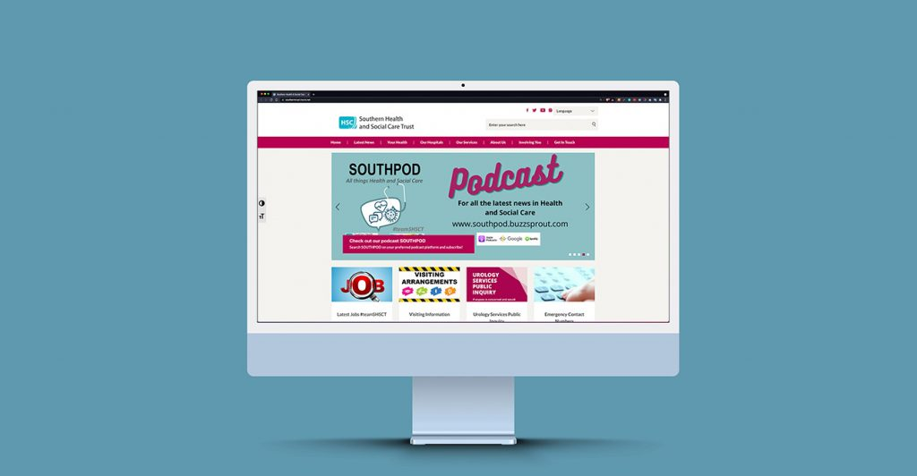 Southern Health and Social Care Trust   Wibble Web Design & Development   Blog